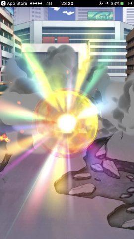 虹色のガチャ演出は星5キャラ(SR)