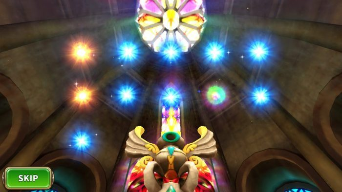 虹色の光から超大当たりの星5キャラが出現