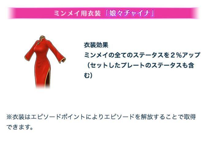 ミンメイ用衣装「娘々チャイナ」