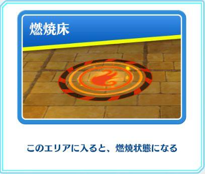 「燃焼床」のギミック