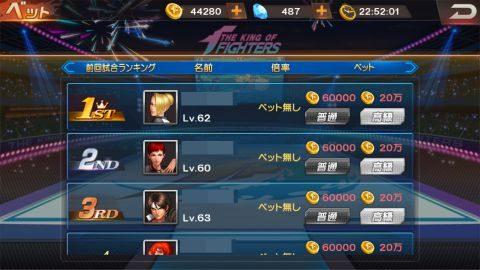 前日のランキング上位プレイヤーに6万コインか20万コインをベットして、そのプレイヤーが優勝すればオッズに応じて最大100万コインを獲得できる!