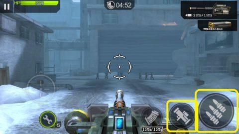 右が機関銃で右から2番目がロケット砲です。