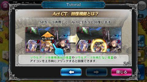 SPを消費してActCTを回復する機能が解放されます。