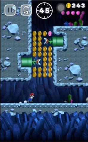 パックンフラワーに気を付けてピンクコインを回収しましょう。