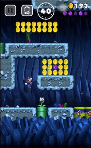 壁にパックンフラワーが2体いる分岐点で下のルートを進みましょう。