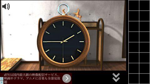 時計の針の位置を確認します。