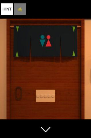 ▲トイレのドアを拡大します