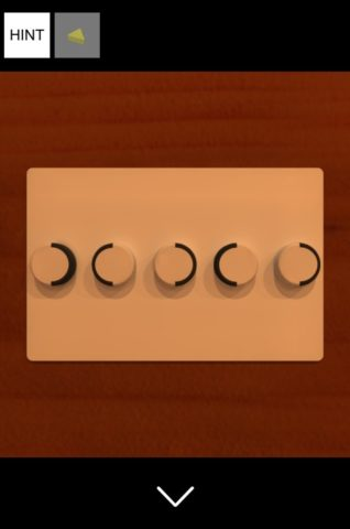 ▲ボタンを取手の向きと合わせます