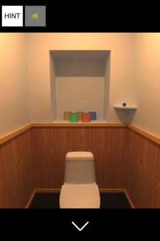 ▲トイレに入ります