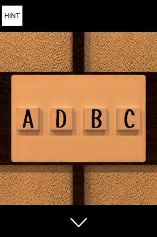 ▲グラスのメモリと同じ「A、D、B、C」にします