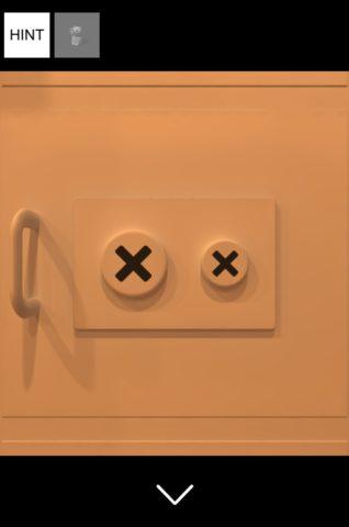 ▲×印をタヌキのおへそに合わせて押していきます