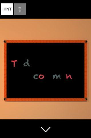 ▲黒板に残った文字色を確認します