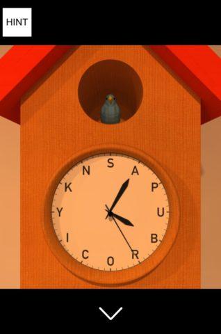 ▲青い鳥を置き、針が指すアルファベットを確認します