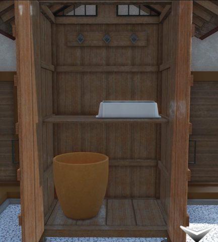 小屋の扉を開く