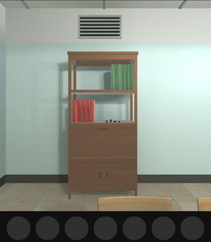 後面の本棚