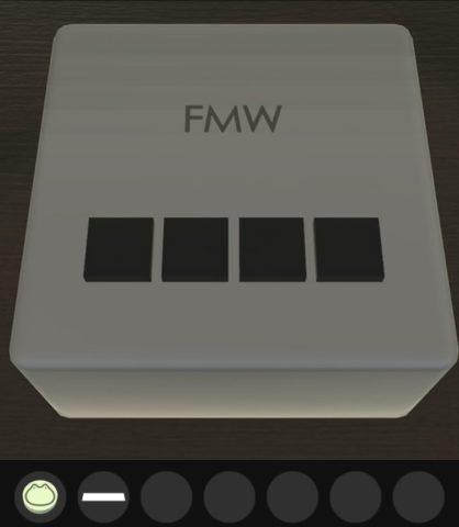 FMWと書かれた箱