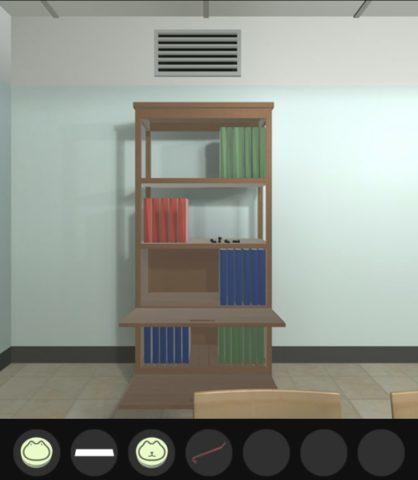 本棚の上の通気口