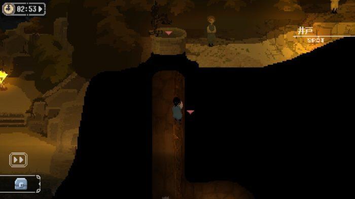 地下道の壁を壊す