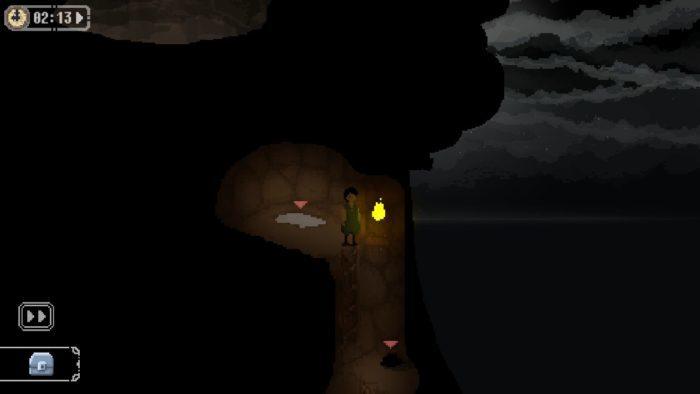 洞窟に明かりをつける[火打石/魚脂]