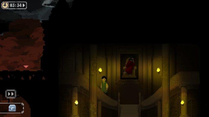 魔女の城エントランスから左の塔へ移動
