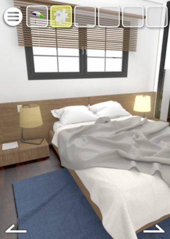 ベッドの画面に移動