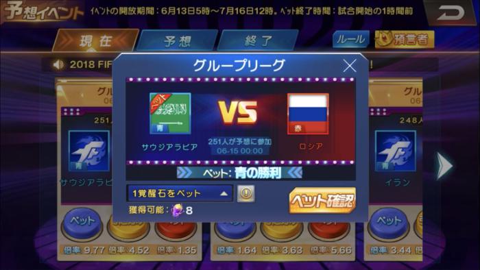 ワールドカップ予想イベント